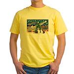 Xmas Magic / 2 Shelties (dl) Yellow T-Shirt