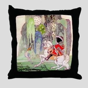 Kay Nielsen's Sleeping Beauty Throw Pillow