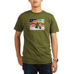 Xmas Music / 2 Shelties Organic Men's T-Shirt (dar