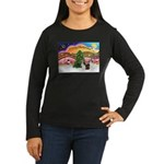 Xmas Music / 2 Shelties Women's Long Sleeve Dark T