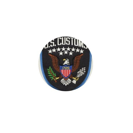 United States Customs Mini Button (10 pack)