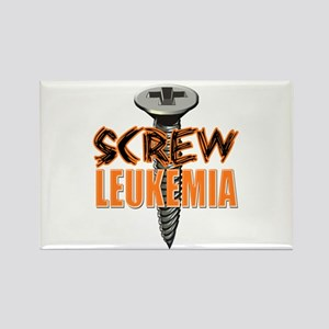 Screw Leukemia Rectangle Magnet