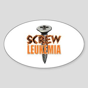 Screw Leukemia Sticker (Oval)