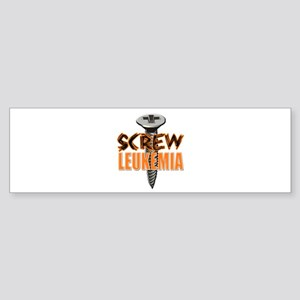 Screw Leukemia Sticker (Bumper)