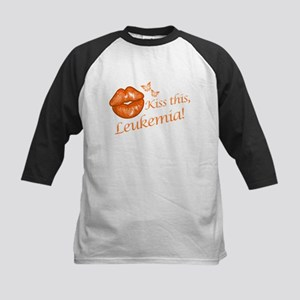 Kiss this, Leukemia! Kids Baseball Jersey