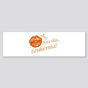 Kiss this, Leukemia! Sticker (Bumper)