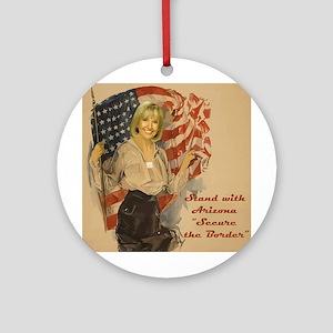 Stand With Arizona Ornament (Round)