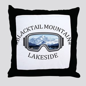 Blacktail Mountain - Lakeside - Mon Throw Pillow