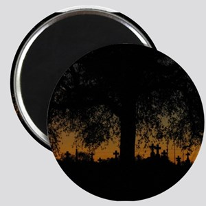 New Orleans Cemetary Sunset Magnet