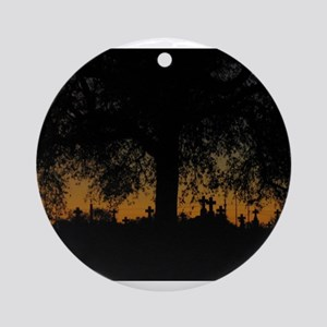 New Orleans Cemetary Sunset Ornament (Round)