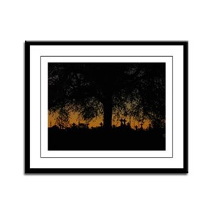 New Orleans Cemetary Sunset Framed Panel Print