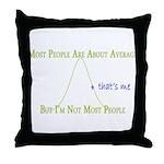 Above Average Throw Pillow
