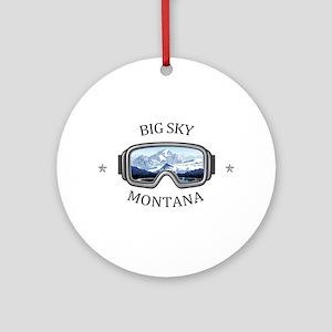 Big Sky - Big Sky - Montana Round Ornament