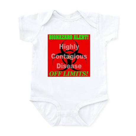 Biohazard Alert! Highly Conta Infant Creeper