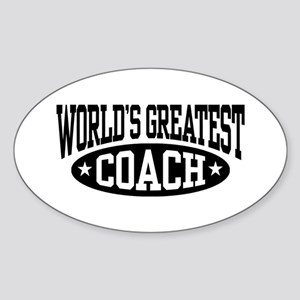 World's Greatest Coach Sticker (Oval)