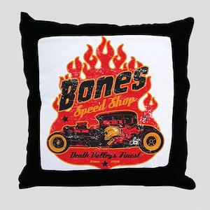 Bones Speed Shop Throw Pillow