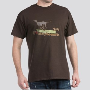 I love Greyhounds Dark T-Shirt