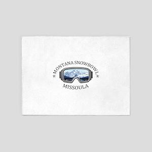 Montana Snowbowl - Missoula - Mon 5'x7'Area Rug