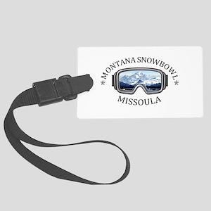 Montana Snowbowl - Missoula - Large Luggage Tag