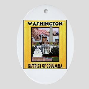 Washington D.C. Ornament (Oval)