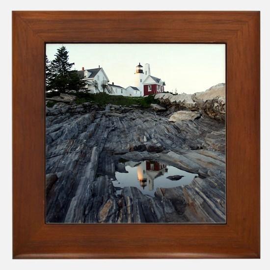 Pemaquid Point Light Framed Tile