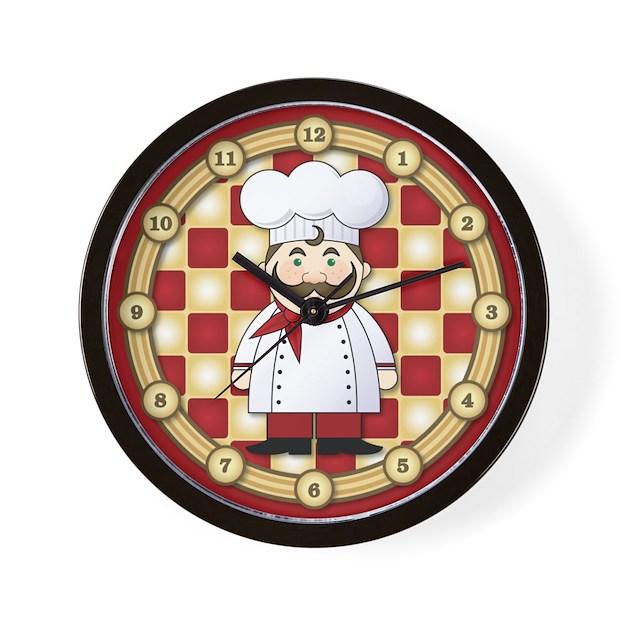 Italian Chef Wall Clock By 1512boulevard