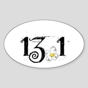 13.1 Daisey Design Sticker (Oval)
