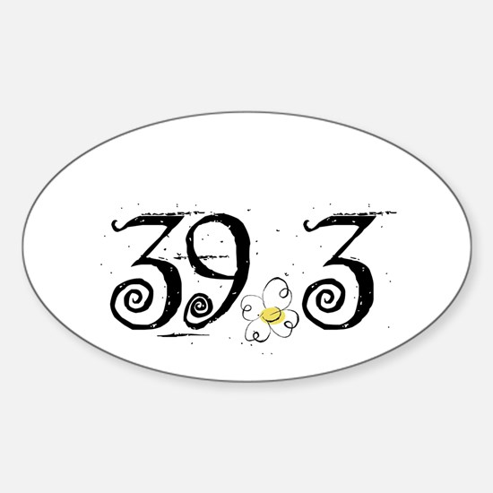 39.3 Daisey Design Sticker (Oval)