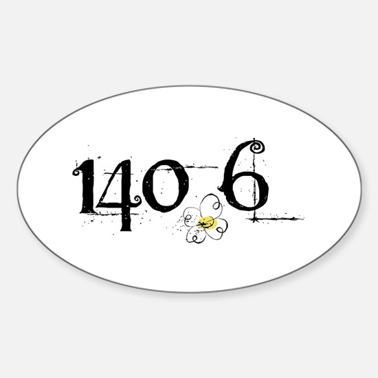 140.6 Daisey Design Sticker (Oval)