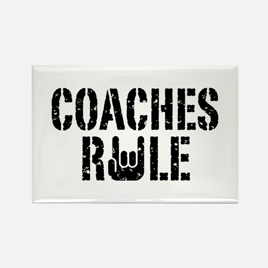 Coaches Rule Rectangle Magnet