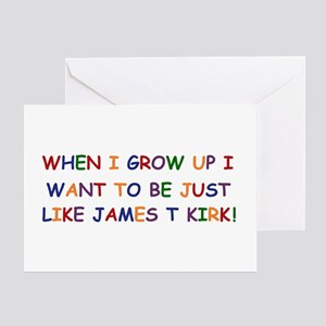 When I grow up I want to be J Greeting Card