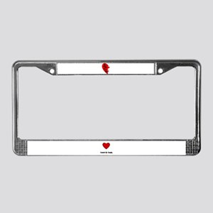 MY OTHER HALF IS IN IRAQ License Plate Frame