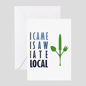 I Ate Local Greeting Card