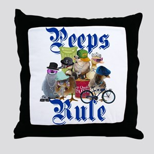 PEEPS RULE Throw Pillow