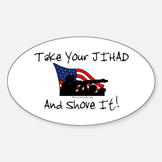 No Jihad Zone Sticker (Oval)