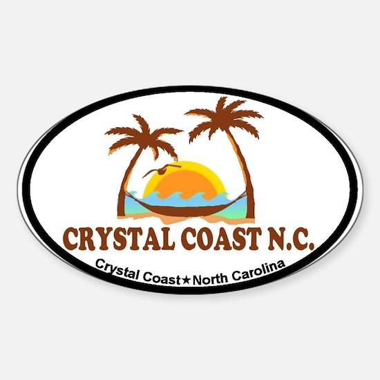 Crystal Coast NC - Palm Trees Design. Decal