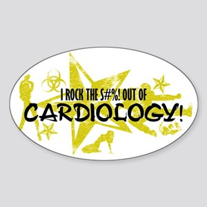 I ROCK THE S#%! - CARDIOLOGY Sticker (Oval)
