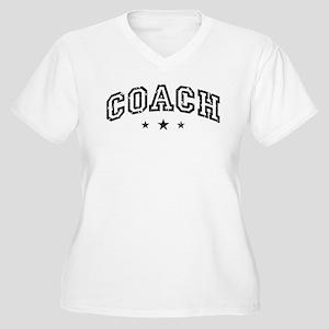 Coach Women's Plus Size V-Neck T-Shirt