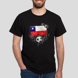 Soccer Fan Chile Dark T-Shirt