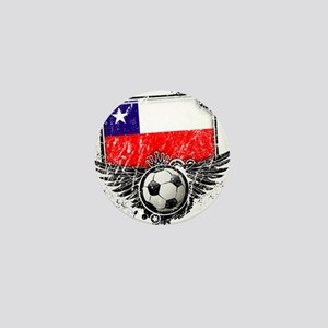 Soccer Fan Chile Mini Button