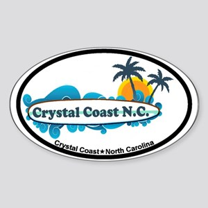 Crystal Coast NC - Seashells Design Sticker (Oval)