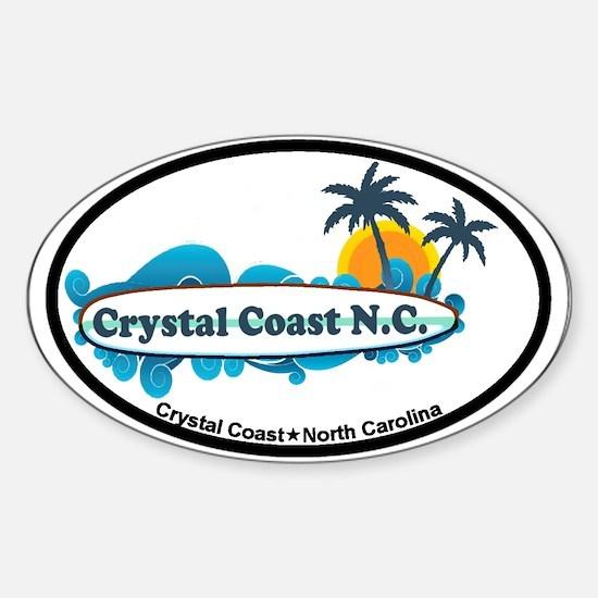 Crystal Coast NC - Seashells Design Sticker (Oval)