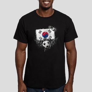 Soccer Fan South Korea Men's Fitted T-Shirt (dark)
