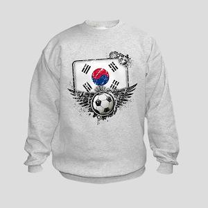 Soccer Fan South Korea Kids Sweatshirt