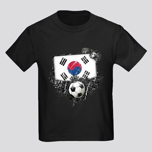 Soccer Fan South Korea Kids Dark T-Shirt