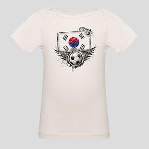 Soccer Fan South Korea Organic Baby T-Shirt