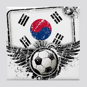 Soccer Fan South Korea Tile Coaster