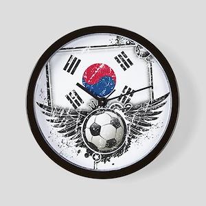Soccer Fan South Korea Wall Clock