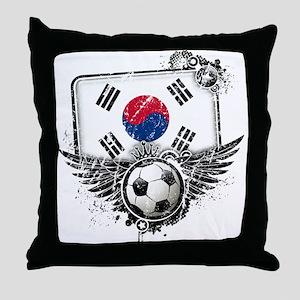 Soccer Fan South Korea Throw Pillow