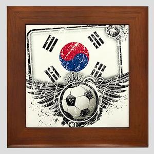 Soccer Fan South Korea Framed Tile